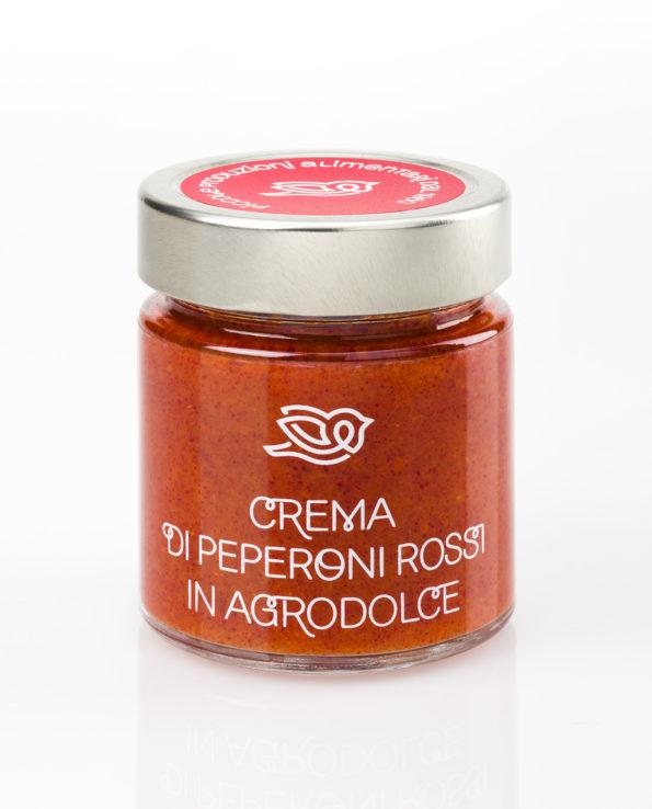 Crema di peperoni rossi in agrodolce